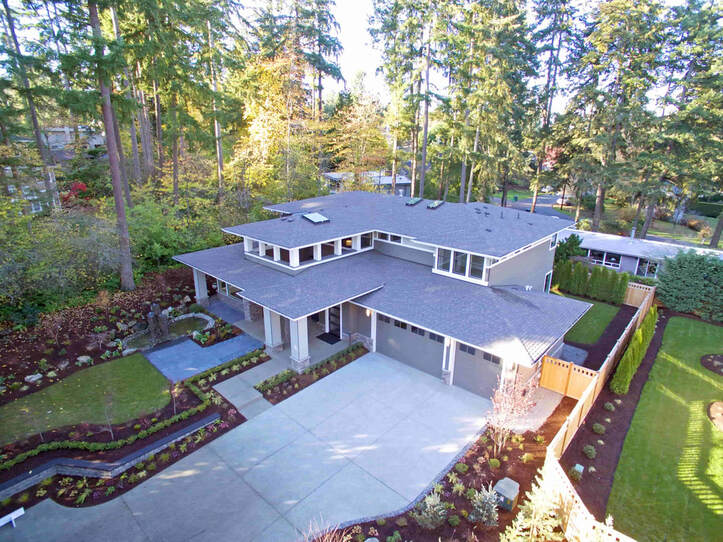 A large scale concrete driveway was installed for this beautiful home in Vancouver.